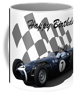 Coffee Mug featuring the photograph Racing Car Birthday Card 8 by John Colley