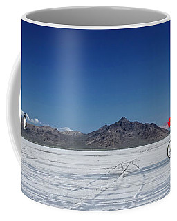 Racing On The Bonneville Salt Flats Coffee Mug