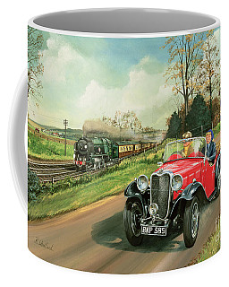 Racing The Train Coffee Mug