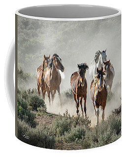 Racing To The Water Hole Coffee Mug