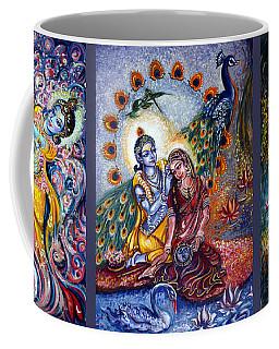 Radha Krishna Cosmic Leela Coffee Mug