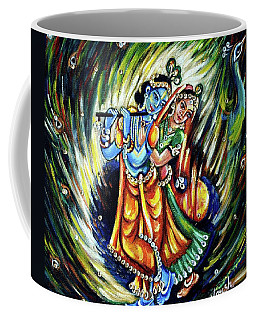 Coffee Mug featuring the painting Radhe Krishna by Harsh Malik