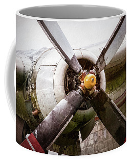 Coffee Mug featuring the photograph Radial Engine And Prop - Fairchild C-119 Flying Boxcar by Gary Heller