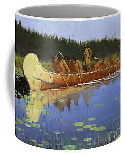 Coffee Mug featuring the painting Radisson And Groseilliers by Frederic Remington