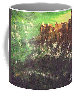 Coffee Mug featuring the painting Raging Waters by Reed Novotny