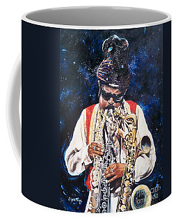 Coffee Mug featuring the painting Rahsaan Roland Kirk- Jazz by Sigrid Tune