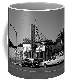 Coffee Mug featuring the photograph Raifords Disco Memphis A Bw by Mark Czerniec