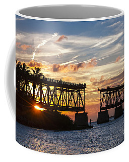 Coffee Mug featuring the photograph Rail Bridge At Florida Keys by Elena Elisseeva