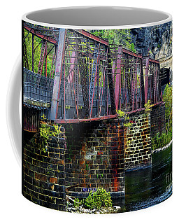 Rail Road Bridge Over The Potomac River At Harpers Ferry, Wv Coffee Mug
