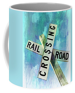 Rail Road Crossing Coffee Mug by Bob Pardue