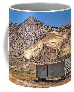 Railroad Car In A Beautiful Setting Coffee Mug