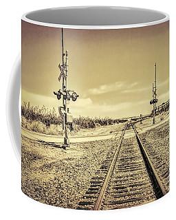 Railroad Crossing Textured Coffee Mug