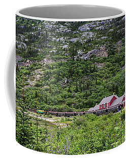 Coffee Mug featuring the photograph Railroad To The Yukon by Ed Clark