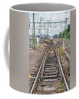 Coffee Mug featuring the photograph Railroad Tracks And Junctions by Antony McAulay