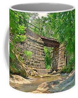 Coffee Mug featuring the photograph Railroad Tracks At Buttermilk/homewood Falls by Lisa Wooten