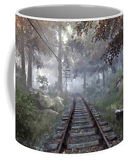 Rails To A Forgotten Place Coffee Mug by Kai Saarto
