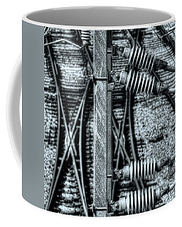 Coffee Mug featuring the photograph Railway Detail by Wayne Sherriff