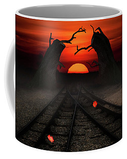 Railway To The Sunset Coffee Mug by Mihaela Pater