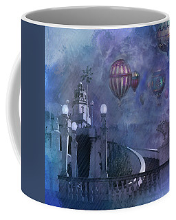 Rain And Balloons At Hearst Castle Coffee Mug