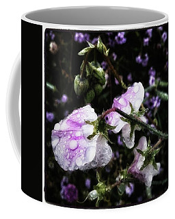 Coffee Mug featuring the photograph Rain Kissed Petals. This Flower Art by Mr Photojimsf