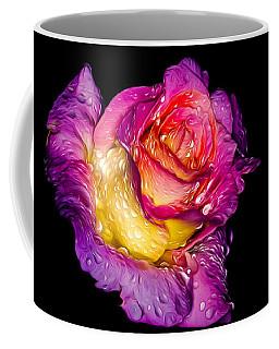 Rain-melted Rose Coffee Mug by Rikk Flohr