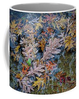 Coffee Mug featuring the photograph Rain On Autumn Leaves by Lilia D