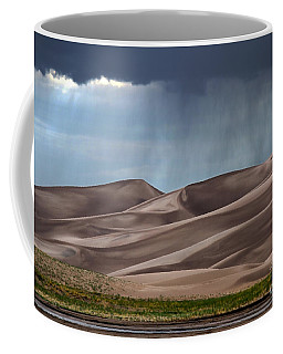 Rain On The Great Sand Dunes Coffee Mug by Catherine Sherman