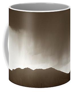 Coffee Mug featuring the photograph Rain Over Flatirons by Marilyn Hunt
