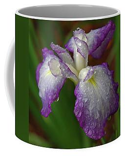 Rain-soaked Iris Coffee Mug