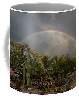 Coffee Mug featuring the photograph Rain Then Rainbows by Dan McManus