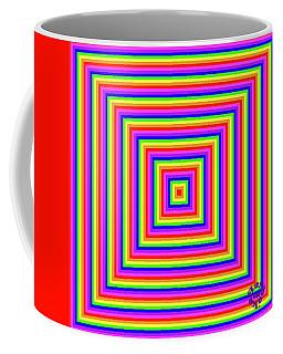 Coffee Mug featuring the digital art Rainbow #1 by Barbara Tristan