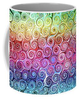 Rainbow Abstract Swirls Coffee Mug
