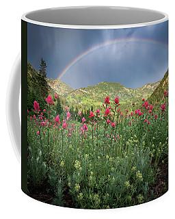 Rainbow And Wildflowers Coffee Mug