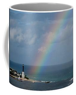 Rainbow At Hillsboro Lighthouse Coffee Mug