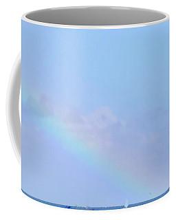 Coffee Mug featuring the digital art Rainbow At The Beach 2 by Francesca Mackenney
