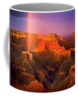 Rainbow At The Grand Canyon Coffee Mug