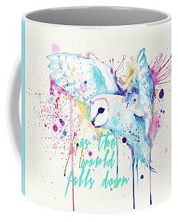 Rainbow Barn Owl Labyrinth Variant Coffee Mug