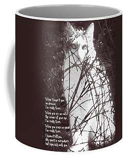 Coffee Mug featuring the photograph Rainbow Bridge Art Cats - My Spirit Is Everywhere But Especially With You by Menega Sabidussi