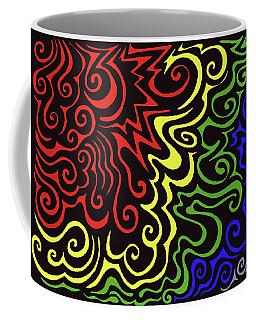 Rainbow Burst Tribal Coffee Mug