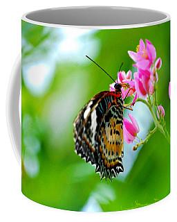 Coffee Mug featuring the photograph Rainbow Butterfly by Peggy Franz