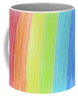 Rainbow Crayon Drawing Coffee Mug by GoodMood Art