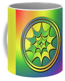 Coffee Mug featuring the digital art Rainbow Design 5 by Chuck Staley
