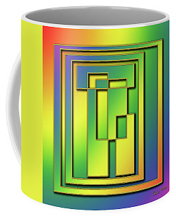 Coffee Mug featuring the digital art Rainbow Design 7 by Chuck Staley
