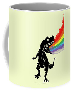 Rainbow Dinosaur Coffee Mug