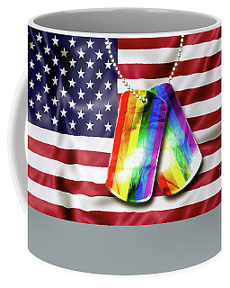 Rainbow Dog Tags Coffee Mug