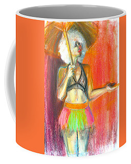 Coffee Mug featuring the drawing Rainbow by Gabrielle Wilson-Sealy