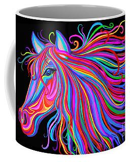 Coffee Mug featuring the painting Rainbow Horse  by Nick Gustafson