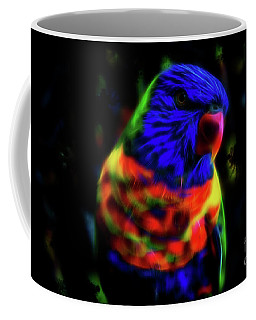 Rainbow Lorikeet - Fractal Coffee Mug