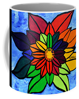 Rainbow Lotus Flower Coffee Mug
