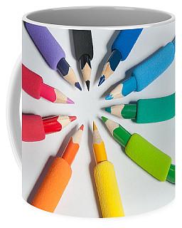 Rainbow Of Crayons Coffee Mug